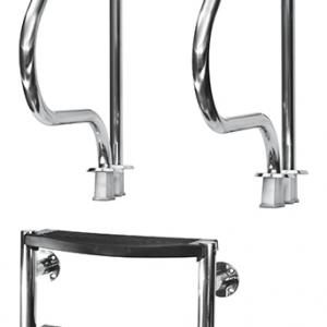 Scaletta di risalita mod. 2 pezzi in acciaio inox AISI 316 a 3 g